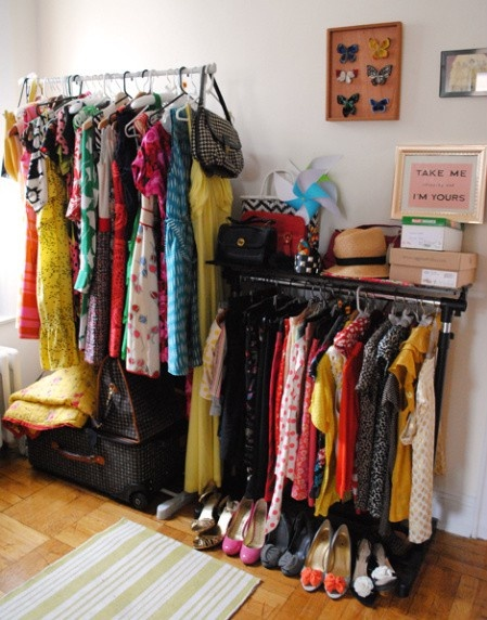 creating a closet when one is not available.