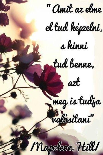 mosoly jóga heti idézet napoleon hill az elménk hatalma lila virágok szép…
