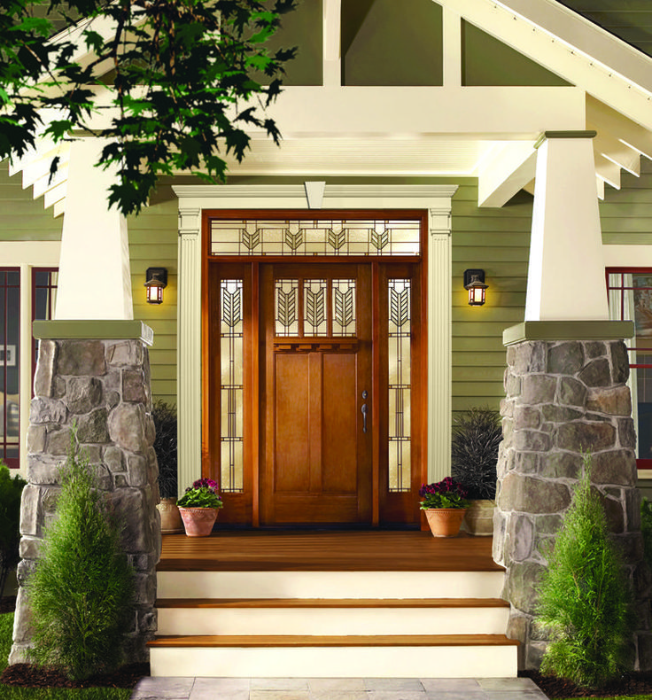 329 best arts crafts home design images on pinterest for Arts and crafts front doors