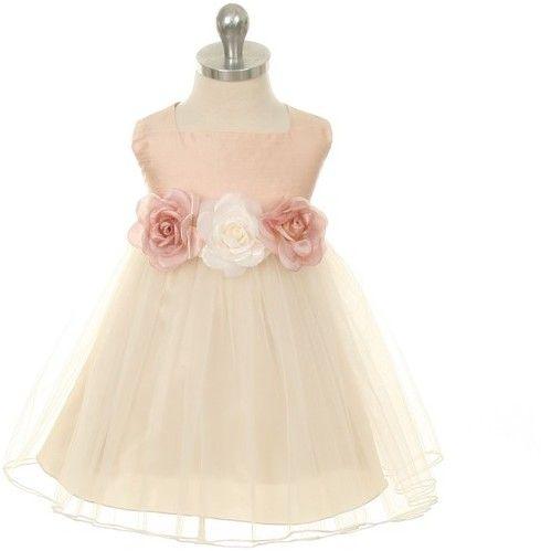 Kids Dream Kids Dream Camilla Baby Dupioni Silk Dress Rose
