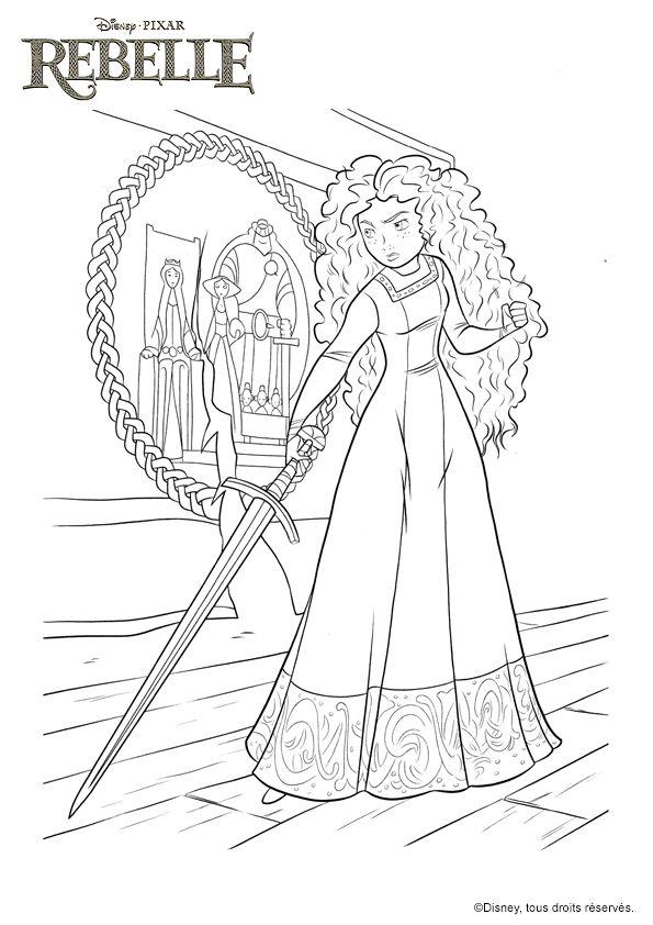 Les 108 meilleures images du tableau coloriage de princesses sur pinterest coloriage de - Rebelle gratuit ...