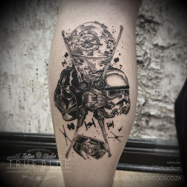 """Star Wars"" by Charl Richardson of True Blue Professional Tattoo Studio"