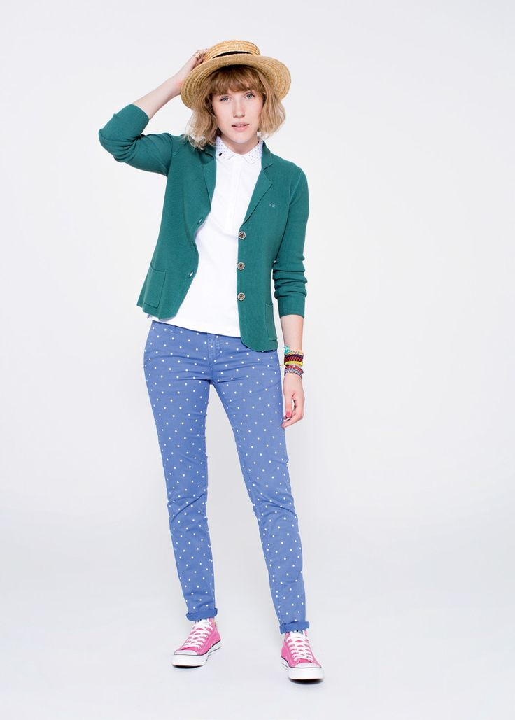 Playful and jolly pieces build up this typically tomboy-like look. SUN68 Woman SS15 #SUN68 #SS15 #woman #jacket #shirt #pants