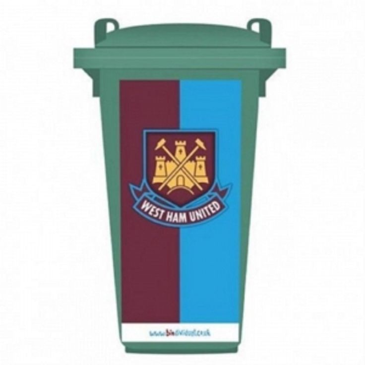 West Ham Wheelie Bin Sticker – Crest: West Ham Wheelie Bin Sticker Large sticker #WrekinSportswear