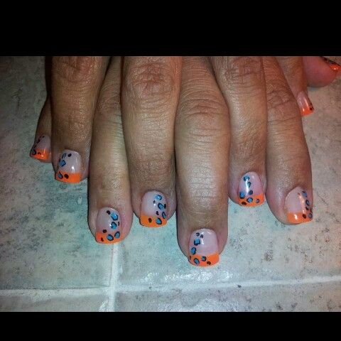 Orange n blue cheetah