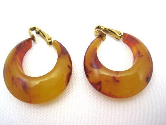 69 best Bakelite Earrings images on Pinterest   Plastic ...