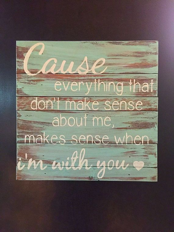 Wooden Sign with Quote Hunter Hayes Wanted by SigndSealedDelivered