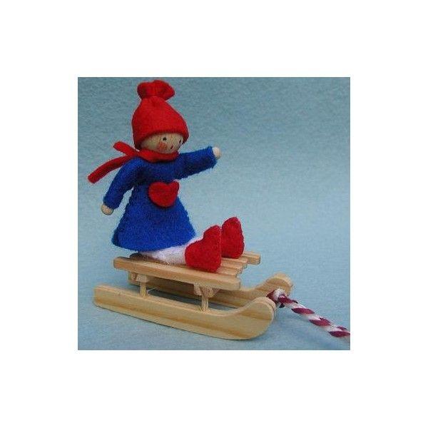 Kit créatif couture miniature enfant sur la luge
