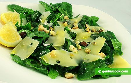 How to Make Spinach Salad with Nuts and Cheese | Dietary Cookery | Genius cook - Healthy Nutrition, Tasty Food, Simple Recipes