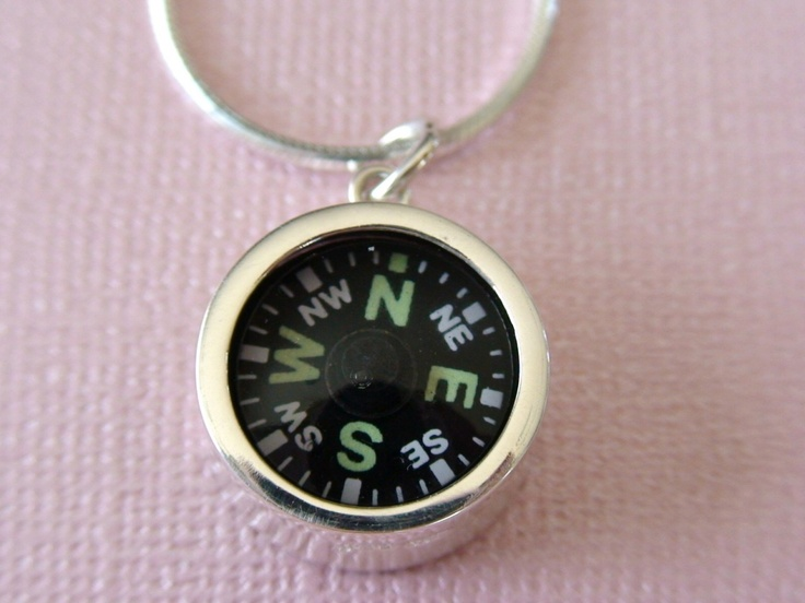 Sterling Silver Compass Necklace **WORKING COMPASS**