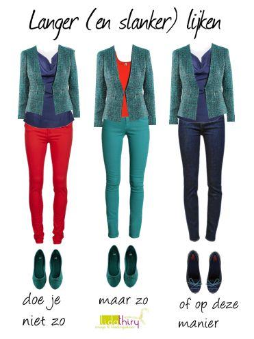 Hoe kan ik langer lijken. Klik op de foto voor meer details | www.lidathiry.nl |#slankerlijken #kledingtip
