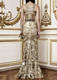 Gold Gown from Tumblr #celebstylewed #wedding #bridal