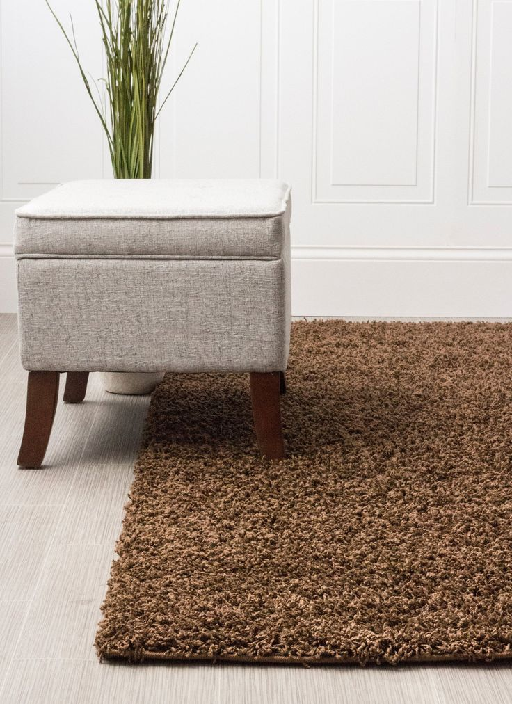 Chocolate Brown Shag Rug | Designer Style For Living Rooms & Bedrooms