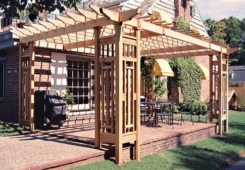 how to build a patio trellis