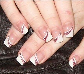 cute nails designs for weddings - bridal nails designs - pretty nails designs for wedding graduation firs comunion  - how can i decorate my nails to go an wedding - party nail designs