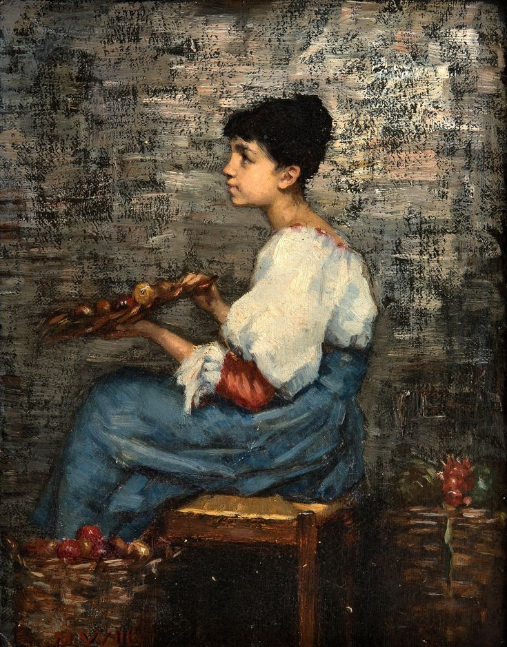 "Maria Wiik 1853-1928 ""FRUITSELLER""."