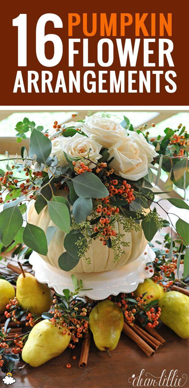 16 Easy Pumpkin Flower Arrangements
