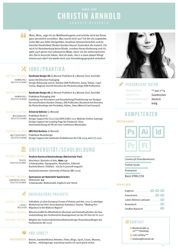 56 best Cv / inspiration images on Pinterest | Page layout, Resume ...