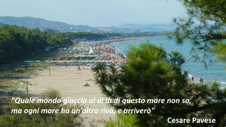 """""""Quale mondo giaccia al di là di questo mare non so, ma ogni mare ha un'altra riva, e arriverò"""" Cesare Pavese  #buongiornopineto www.pinetovacanza.it"""