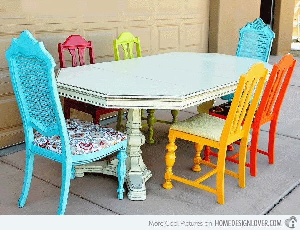 A Burst of Colors from 20 Dining Sets with Multi-Colored ...