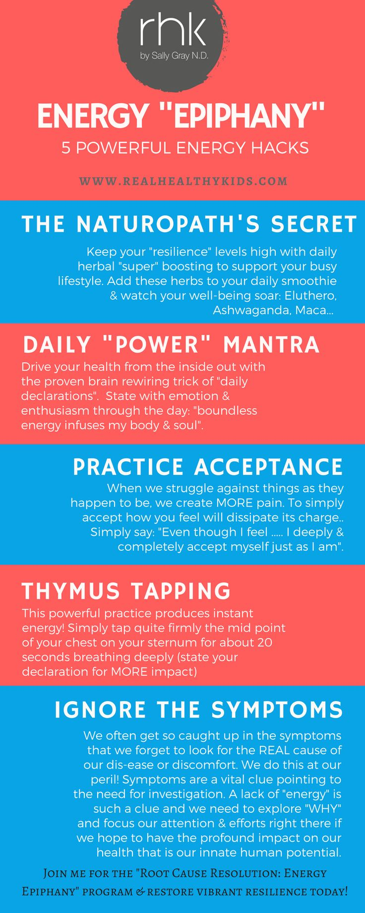 "Your ""Energy Epiphany: 5 Powerful Energy Hacks"" & Why You SHOULD Ignore the Symptoms..."