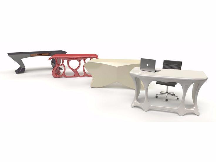 Lacquered Adamantx® workstation desk by ZADITALY® - Designer Francesco Bazzica