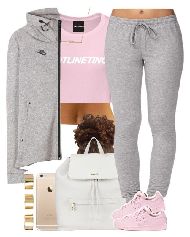 """""""Pinkie. """" by livelifefreelyy ❤ liked on Polyvore featuring DKNY, Forever 21, adidas, ZoÃ« Chicco, NIKE and ASOS"""