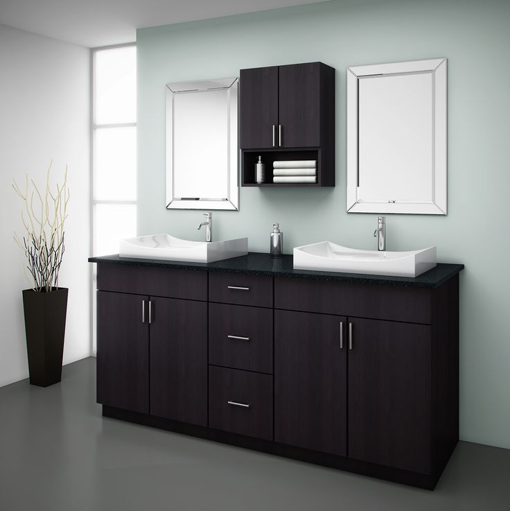 Yaletown. Available in 4 colours. Perfect for the bathroom. A high pressure laminate, easy to keep clean perfect for steamy bathrooms, no moisture problems!  EuroRite Cabinets - Available at Yorkton Building Supplies.