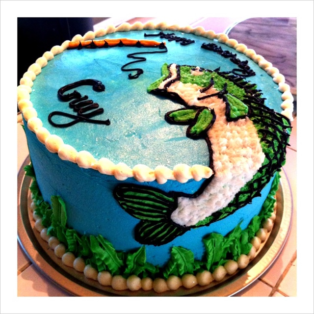 Fishing Cake David would love this for the sweet tooth