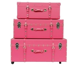 The Sorority College Trunk - Cherry Pink
