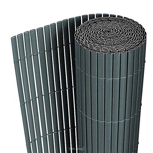 [neu.haus] Estera de PVC (90x300cm) (gris) protector contra el viento - pantalla de privacidad, para jardín, balcón y terraza: Amazon.es: Hogar