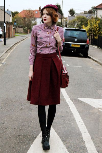 I have come to the conclusion I like burgundy, although I'm not a fan of cat-patterned shirts.