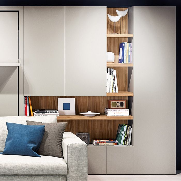 Clei Closet Systems Offer Over 50 Storage Options Ranging From Shallow Cabinets To Walk In Resource Furniture Living Room Cabinets Small Space Interior Design