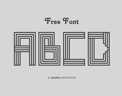 """Check out new work on my @Behance portfolio: """"   LINE ART FONT    """"FREE FONT / FREE LICENSE"""" """" http://on.be.net/1W3Q6rr"""