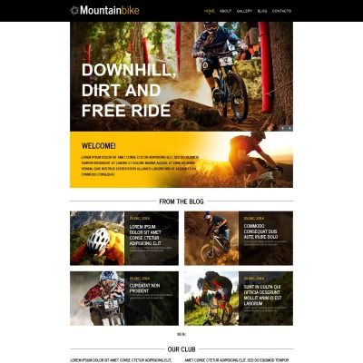 Moto CMS HTML Template for Cycling Website