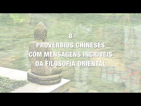 A filosofia oriental nos transmitiu lindas mensagens de reflexão, paz e amor!