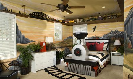 Perfect little boy's bedroom at a Toll Brothers home in Rancho Cucamonga, CA. www.tollbrothers.com/CA