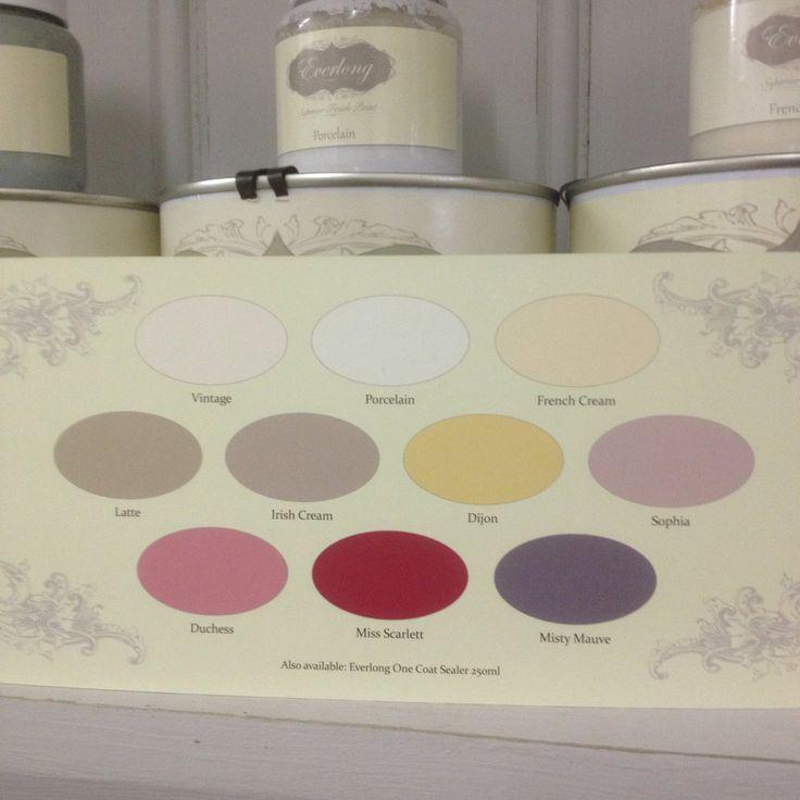 Everlong Paint colour chart