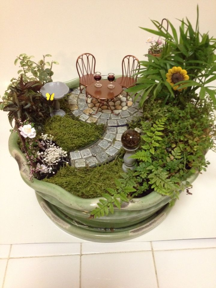 """Happy Hour"" fairy garden!"