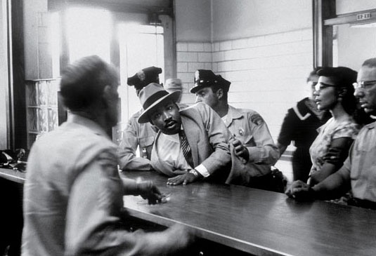 Charles Moore - Arrest of Martin Luther King Jr. in Montgomery Alabama 1958.