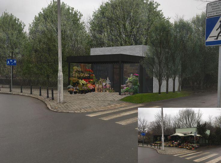 Modernizacja pawilonu przy Cmentarzu Wolskim, obok Parku Powstańców Warszawy