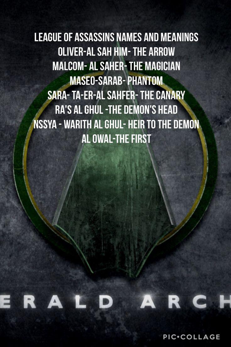 League of assassins names