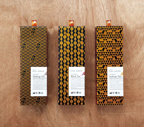 Alishan Tea Packaging by Victor Design #package #vintage #grafica #pattern #giappone