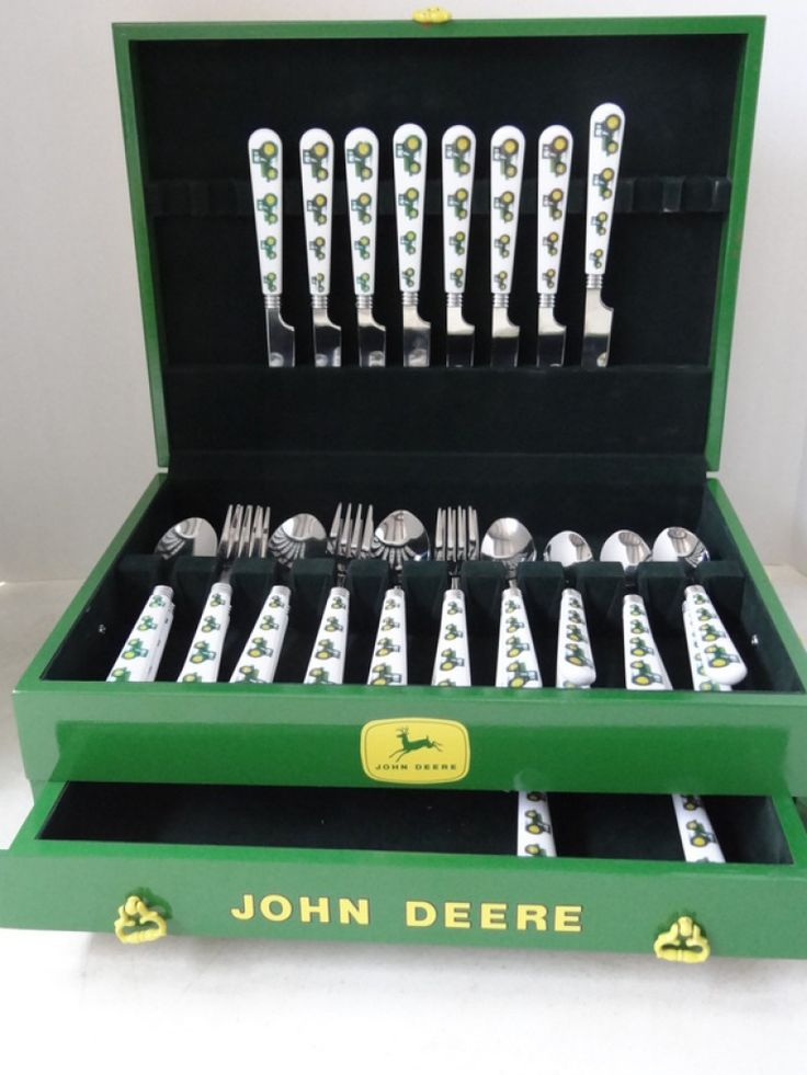 rare john deere | Rare! John Deere 30pc Flatware Set w/ 2 Additional Custom & 214 best john deere images on Pinterest | John deere tractors Baby ...