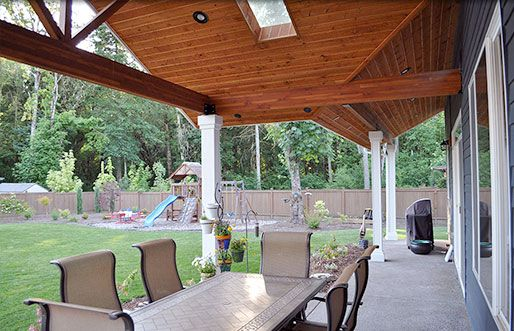 Patio Cover With Skylight Outdoor Pinterest Wood