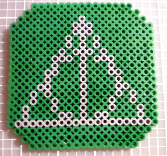 Perler Beads Drink Coaster (Deathly Hallows Slytherin). $4.00, via Etsy.