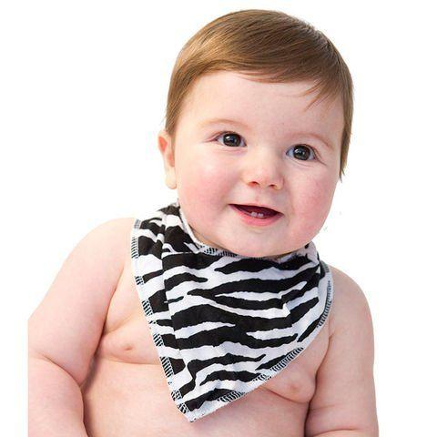 Best Zebra Print Baby Stuff - zebra print baby bandana bib. #zbstuff