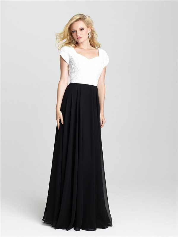 Long Beaded Cap Sleeves Madison James 16-500M Prom Dresses Hotsale