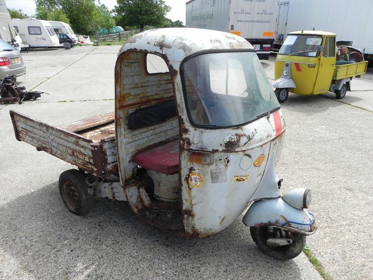 1964 piaggio ape three wheeler. ** serious ** restoration project