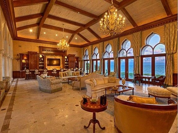 gold and sapphire (House of the Week: Million Dollar Rooms in Florida (VIDEO) | Zillow Blog)